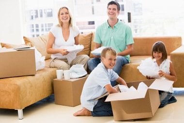 Toronto movers services. Happy family